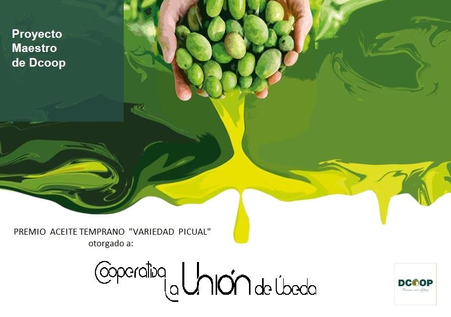 premio aceite oliva virgen extra temprano variedad picual ubeda